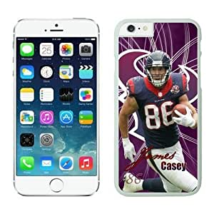 NFL Case Cover For Apple Iphone 4/4S Houston Texans James Casey White Case Cover For Apple Iphone 4/4S Cell Phone Case ONXTWKHB1816