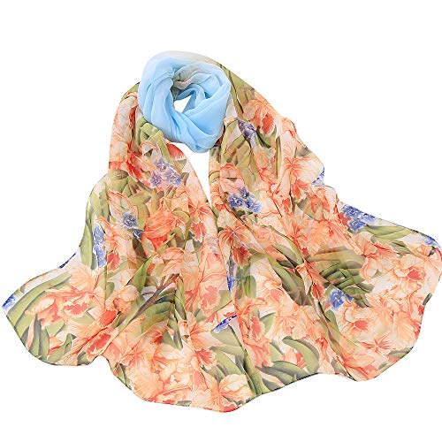 ▲Londony▲ New Arrivals Shawls and Wraps, Soft Chiffon Wrap Scarf Floral Print Shawl Scarves for Women ()