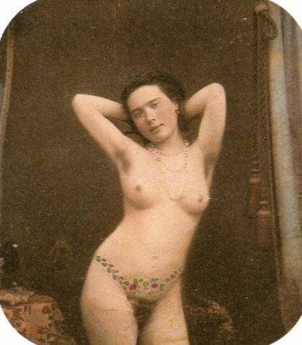 1800s woman's fashionable nude photograph stylish vintage 8x10 black & white e1x
