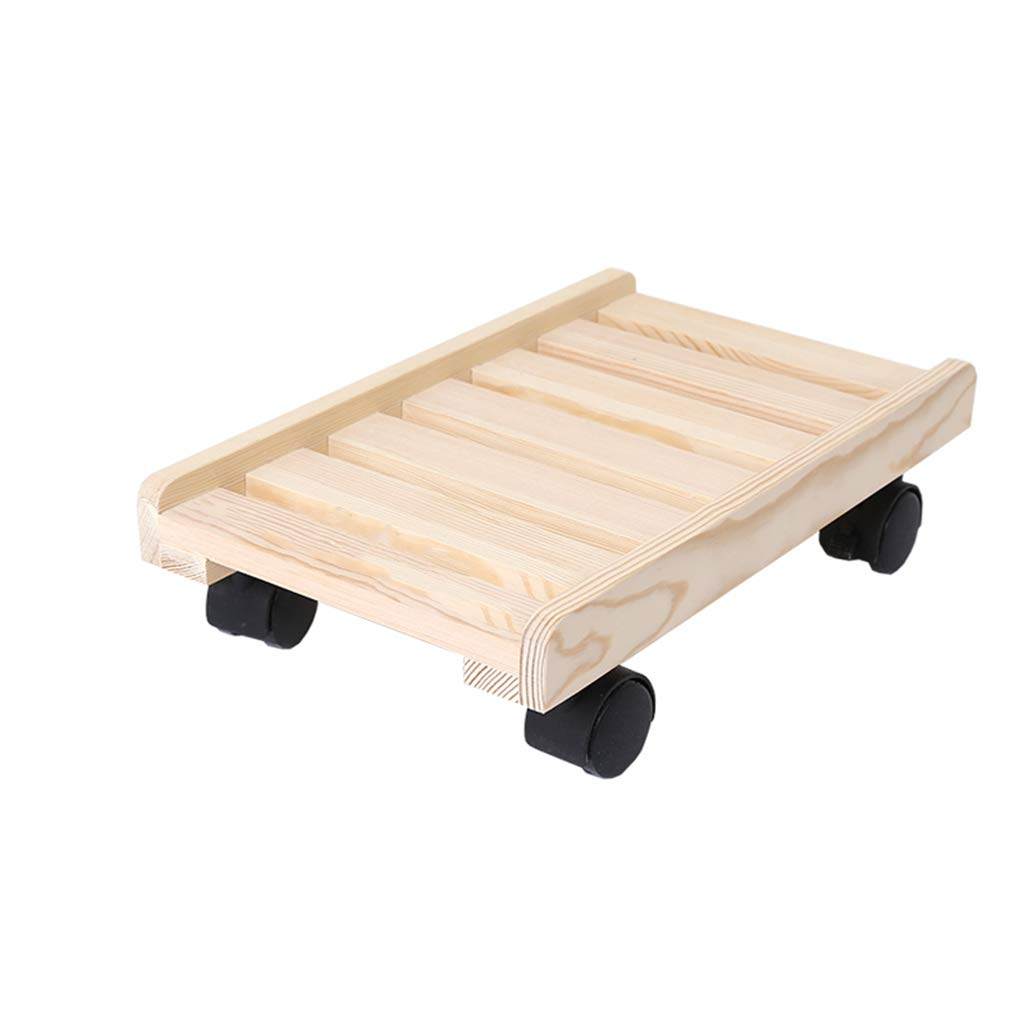 Movable Base, Computer Main Frame, Furniture Dolly, Solid Wood, Strong Load Bearing, with Brake