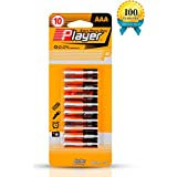 Player AAA 1.5V Carbon Batteries,(10 PACK)