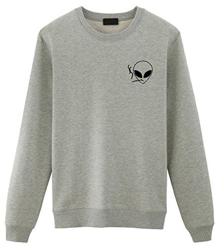 Alien Smoking Alieno Unisex Sweater Friends Felpa Maglioncino Fellow Grey xEftwS5qp