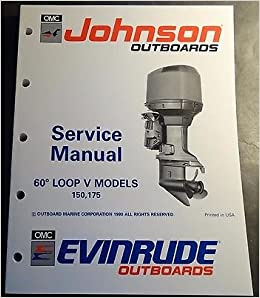 1991 OMC JOHNSON EVINRUDE 150 /& 175HP OUTBOARD  PART MANUAL