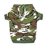 DroolingDog Dog Hoodie Small Medium Camo Dog Clothes Large Dog Shirt for Small Medium Large Dogs, XL, Army Green