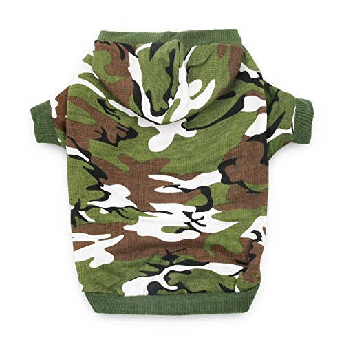 DroolingDog Dog Camo Hoodie Large Dogs Boy Dog Clothes XXL Hoodie Dogs, XXXL, Green - Camo Dog Hoodie Clothes