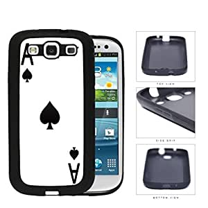 Ace Of Spades Playing Card Rubber Silicone TPU Cell Phone Case Samsung Galaxy S3 SIII I9300