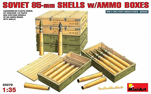 (MiniArt Models 1/35 Soviet 85 mm Shells with Ammo Crates)