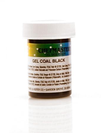 Amazon.com : Chefmaster Gel Food Color, Coal Black - 1 oz. : Grocery ...