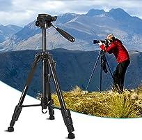 Trípode de cámara de Aluminio de Peso Ligero Ajustable de 59 ...