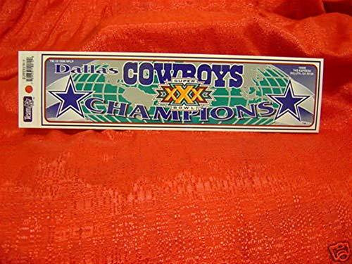 Dallas Cowboys NFL Super Bowl 30 Champs Bumper Sticker