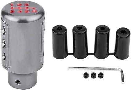 Perilla de cambio de marchas Aleaci/ón de aluminio Palanca de cambio manual Manija de la palanca de cambios Manija de cambio para 8,5 cm Black