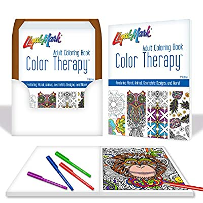 Color Therapy Coloring Book - 1st Edition: Office Products