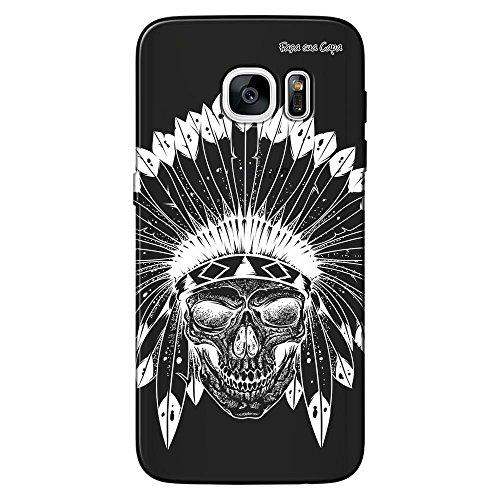 Capa Grafite Personalizada Samsung Galaxy S7 G930 - Índio Caveira - GF06