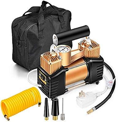 ZHAORLL Bomba de Aire de Doble Cilindro 220V, protección contra Fugas doméstica 50S Bomba de Aire portátil de Alta presión Inflable rápida pequeña