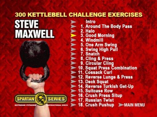 Amazon 300 Kettlebell Challenge Instructional DVD Set Starring Steve Maxwell 18 Powerful Exercises Full Movies TV