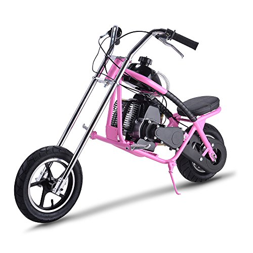 SAY YEAH Gas Scooter 49cc 2 Stroke Mini Dirt Pit Bike for Kids,Non California Compliant,Pink