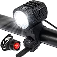 Bike Light, 1200 lumens Bicycle Front Light, USB Fast Charging, 4 Lighting Modes, IPX4 Waterproof Level, Easy