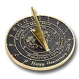 ANTIQUECOLLECTION 'Wishing You' Wedding Anniversary Sundial Gift