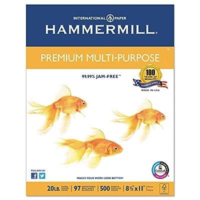 """""""Premium Multipurpose Paper, 20-lb., 8-1/2 x 11, White, 5000/Carton"""""""