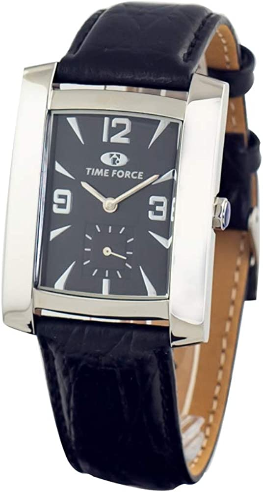 TIME FORCE Reloj Analógico para Unisex Adultos de Cuarzo con Correa en Cuero TF2341B-02