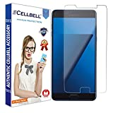 CELLBELL Tempered Glass Screen Protector For Samsung Galaxy C7 Pro With FREE Installation Kit