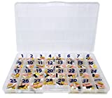 The Olympic Pill Organizer Case with Large Compartments & Stay Tight Lid - Monthly - 31 Day Pill Organizer *Free Medication Log Included! (Monthly)