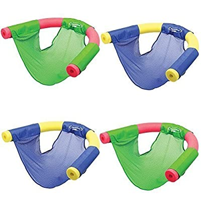 (Set/4) Swimways Floating Pool Noodle Sling Mesh Chairs - Water Relaxation from UnAssigned