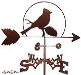 Hand Made CARDINAL RED BIRD GARDEN Stake Weathervane ~NEW~
