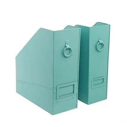 Elan Method File Holder Set Of 2 Aqua Color Multi Function Storage Folder  File Paper