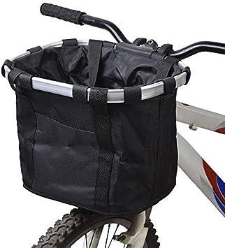 Cesta Plegable para Bicicleta, Tela Oxford De Aleación De Aluminio Desmontable Cesta Trasera para Bicicleta Colgante Accesorios para Bicicleta De Montaña con Gancho