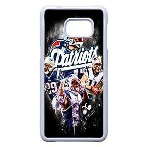 Patriotas de Nueva Inglaterra D1I1Ot Funda Samsung Galaxy S6 Edge Plus Nota 5 Borde caja del teléfono celular funda blanca P2Y6EX Teléfono Funda Caso plástico para los muchachos
