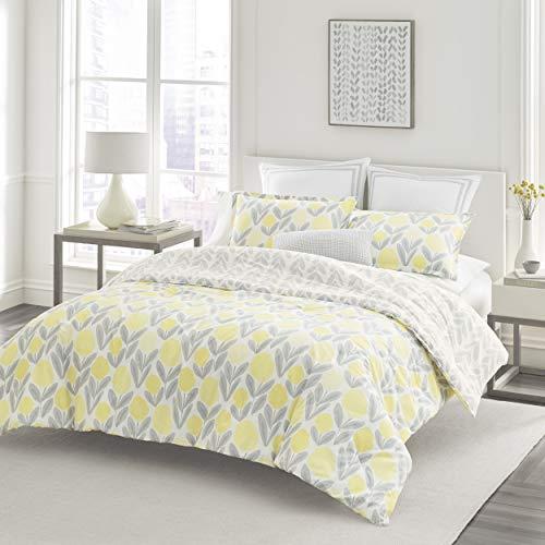 Laura Ashley Serena Comforter Set, Full/Queen, Yellow