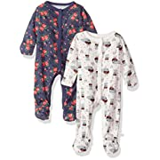 Rosie Pope Baby Girls 2 Pack Coveralls, Flowers, 3-6 Months