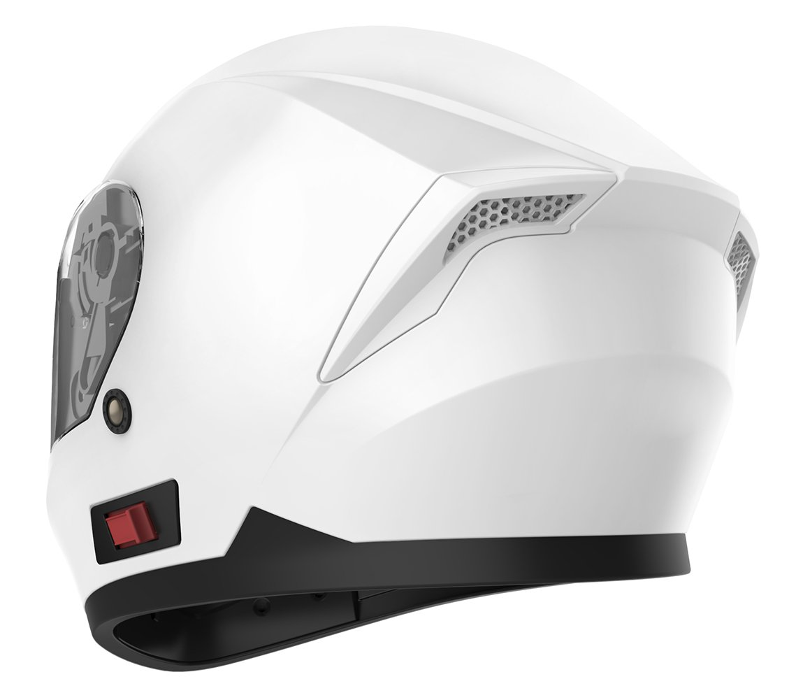 Amazon.com: Motorcycle Full Face Helmet DOT Approved - YEMA YM-831 Motorbike Moped Street Bike Racing Crash Helmet with Sun Visor for Adult, Men and Women ...