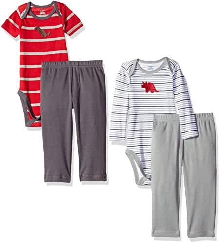 Gerber Baby Boys'' 4 Piece Bodysuit and Pant Set