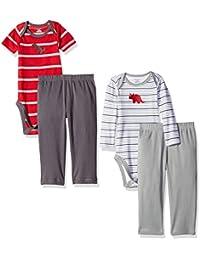 Gerber Baby Boys'' 4 Piece Bodysuit and Pant Set