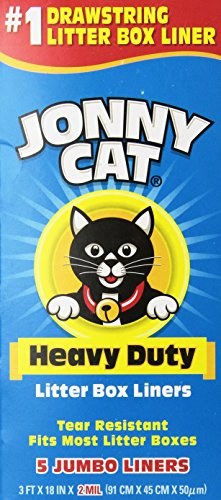 Jonny Cat Heavy Duty Litter Box Liners, Jumbo, 5 (Light Peach Tray)