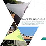 Cosweet 60 Pcs Shade Sail Hardware Kit- 5 Inches