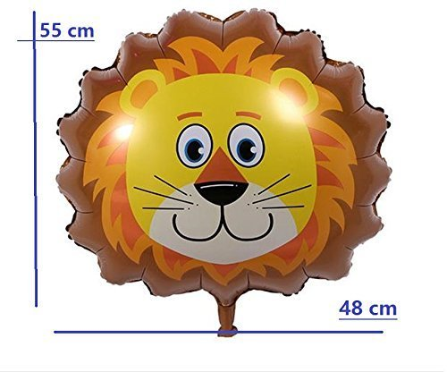 Safari Jungle Zoo Huge Animal head Balloon Jumbo Balloons Zebra, Tiger, Lions, Giraffe & Monkey with 20pcs 11'' latex Safari Print Party Supply foci cozi by foci cozi (Image #6)
