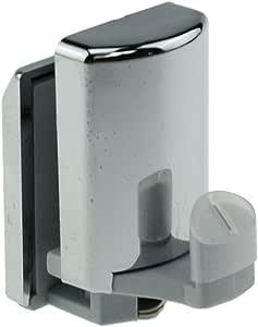 Juego de 4 ganchos en la parte inferior para mampara de ducha de cromo/ruedas/poleas/guías: Amazon.es: Bricolaje y herramientas