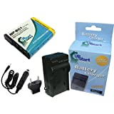 Sony DSC-HX10V Battery and Charger with Car Plug and EU Adapter - Replacement for Sony NP-BG1 Digital Camera Batteries and Chargers (1200mAh, 3.7V, Lithium-Ion)