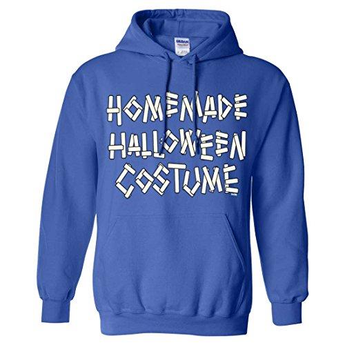 Homemade Halloween Costume Sweatshirt Hoodie - Royal XX-Large (20 Homemade Halloween Costumes)