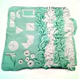 GTTBS Slow Feeding Mat, Dog Snuffle Mat, Dog Training Pad Pet Nose Work Blanket Non Slip Pet Activity Mat for Encourages Natural Foraging Skill, Relieve Stress Mat Pad Machine Wash,Green,L