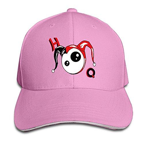 Karoda Cute Harley Quinn Sandwich Hunting Peak Hat & Baseball Cap Pink ()
