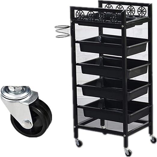 JYSEJ Aspirador uñas, Salon Storage Trolley Cajones de ABS Carro ...