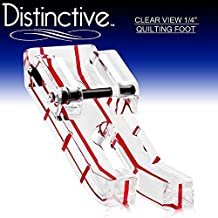 """Distinctive Clear View 1-4"""" Quilting/Sewing Machine Presser Foot - Fits All Low Shank Snap-On Singer*, Brother, Babylock, Euro-Pro, Janome, Kenmore, White, Juki, New Home, Simplicity, Elna and More! by Distinctive"""