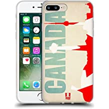 Head Case Designs Canada Flags And Landmarks Soft Gel Case for Apple iPhone 7 Plus / 8 Plus