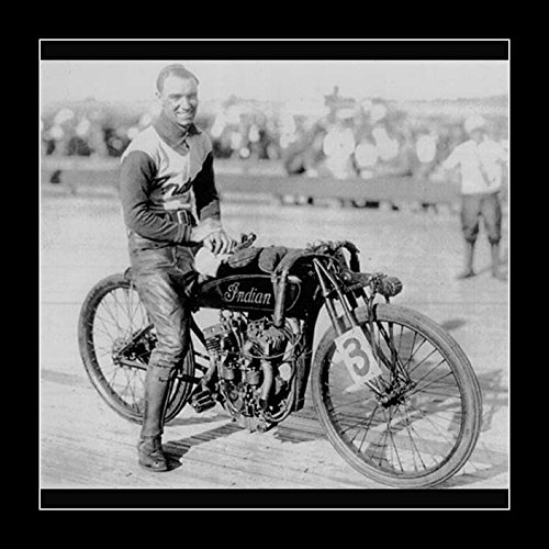 8 x 10 All Wood Framed Photo Indian Motorcycles Racer for sale  Delivered anywhere in USA