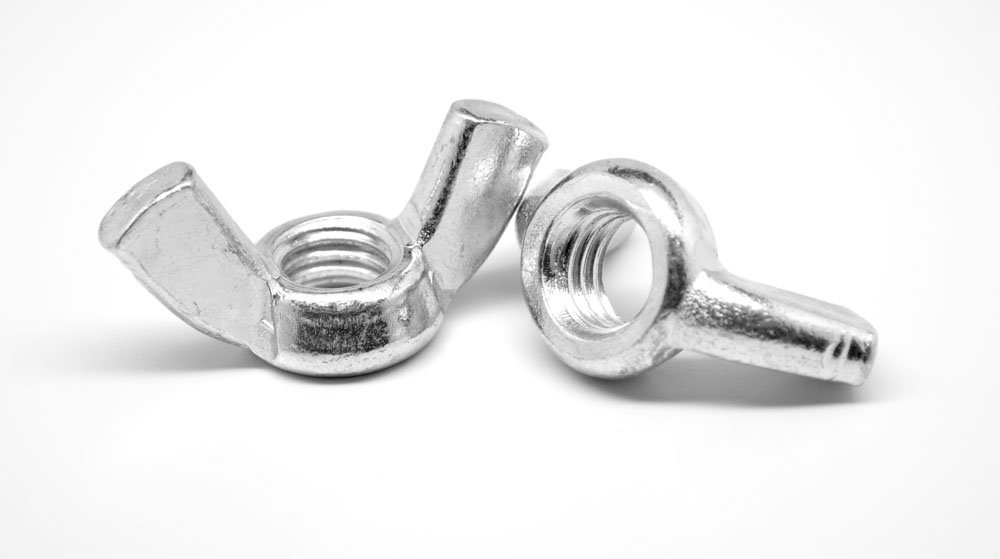 5/16''-18 Coarse Thread Forged Wing Nut Type A Stainless Steel 18-8 Pk 1250