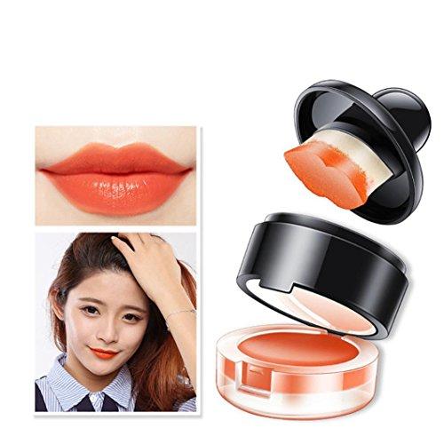 Ourhomer Non-Stick Cup Waterproof Lasting Lip Shape Lazy Lipstick Cosmetics Balm Lips Easy to Wear Seal Lipstick (C)